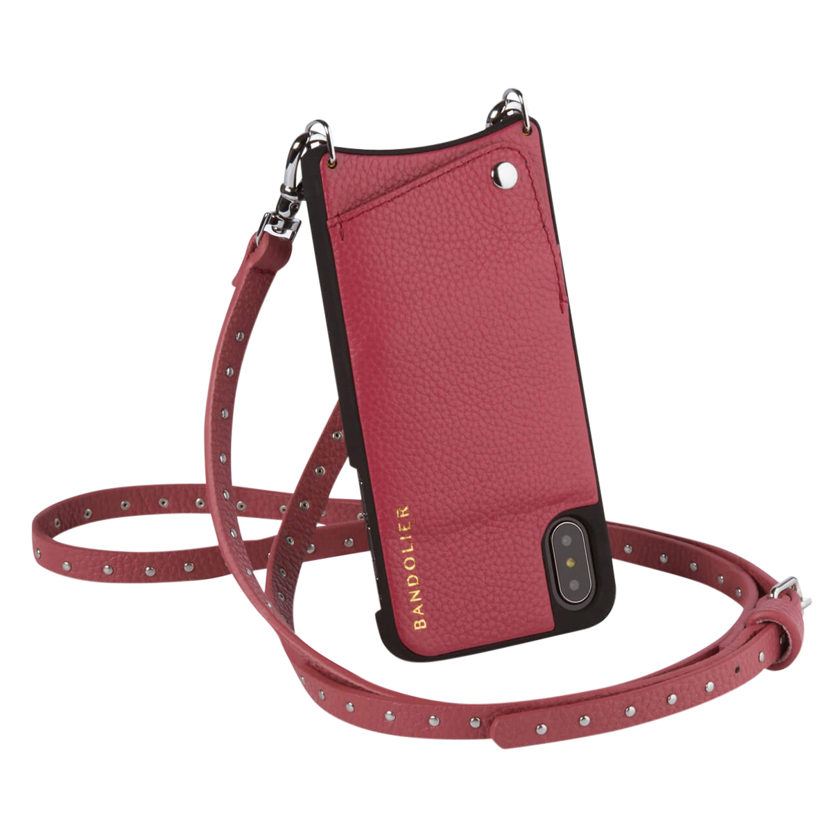 BANDOLIER iPhone XS MAX NICOLE MAGENTA RED バンドリヤー ケース ショルダー スマホ アイフォン レザー メンズ レディース マゼンタ レッド 10NIC1001 [3/18 再入荷] [193]