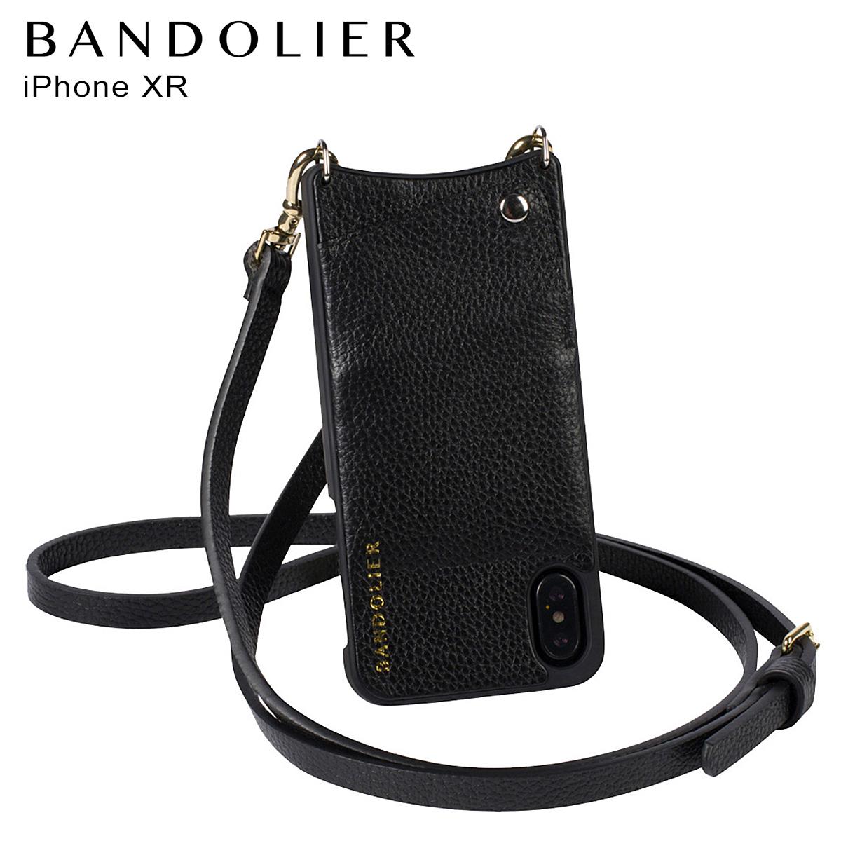 BANDOLIER iPhone XR EMMA GOLD バンドリヤー ケース ショルダー スマホ アイフォン レザー メンズ レディース ブラック 10EMM1001