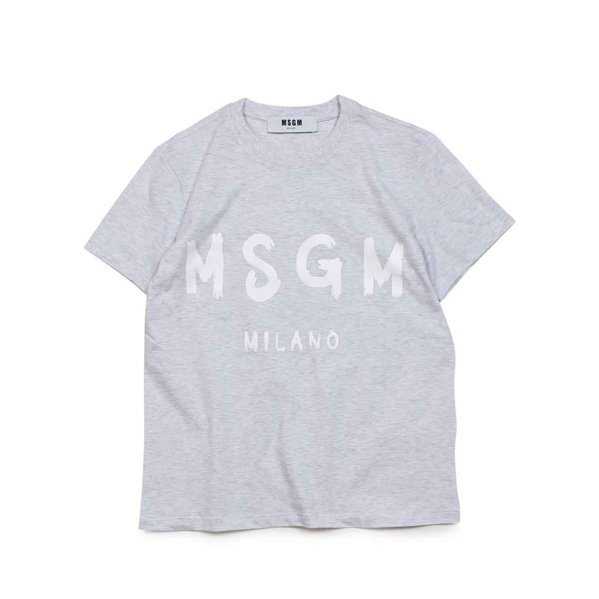 MSGM NEW RUBBED LOGO T-SHIRTS エムエスジーエム Tシャツ 半袖 レディース グレー MDM60 94