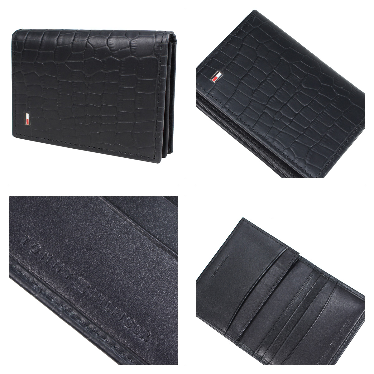 new style 2be15 74742 TOMMY HILFIGER CARD CASE トミーヒルフィガー card case card case men leather black  31TL200015-001 [2/18 Shinnyu load] [192]