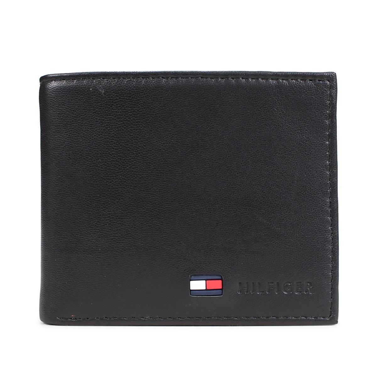 2cbfb54491f TOMMY HILFIGER STOCKTON トミーヒルフィガー wallet folio men leather black  31TL25X020-001 [2/ ...