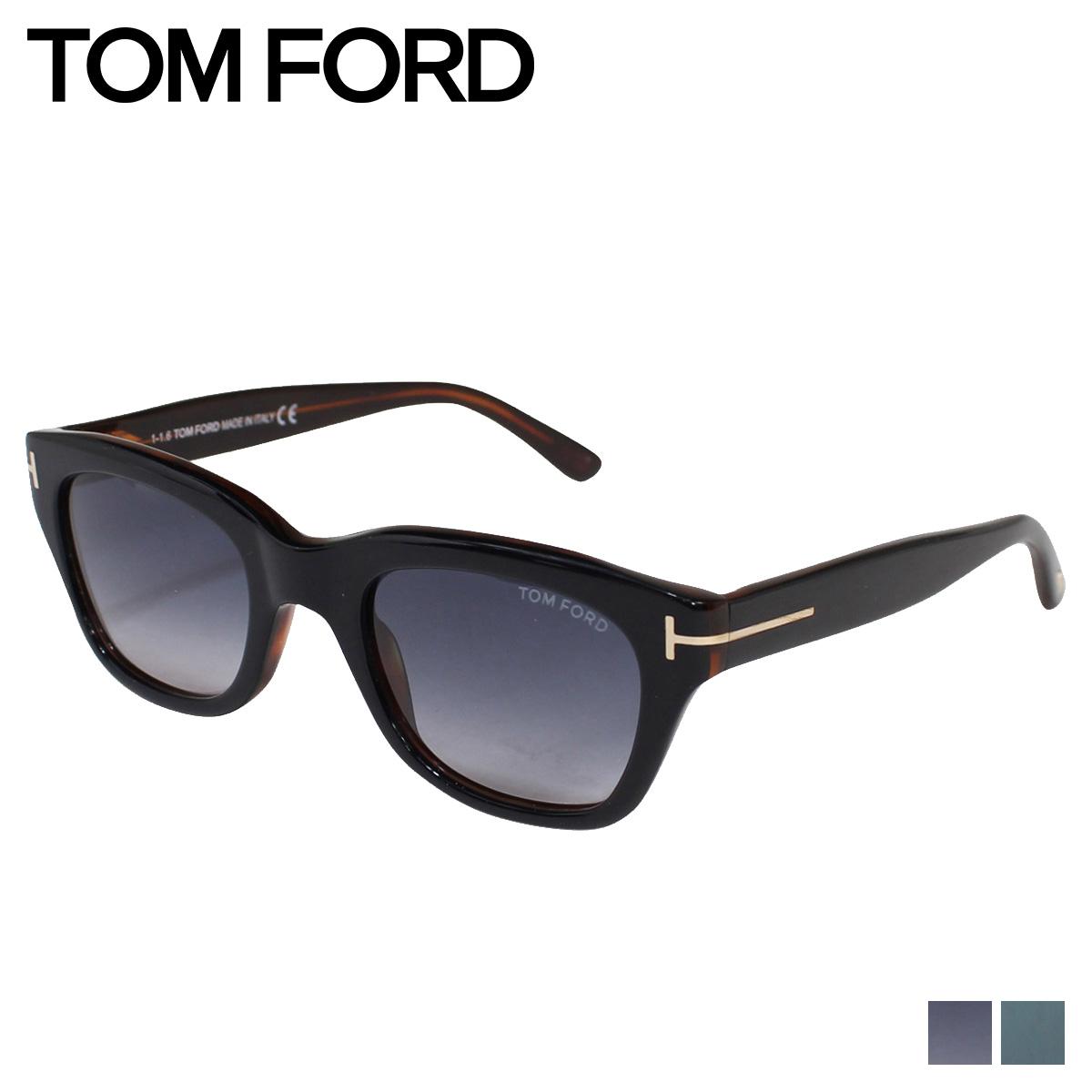 TOM FORD SNOWDON トムフォード サングラス メンズ レディース UVカット ウェリントン アイウェア ブラック 黒 FT0237