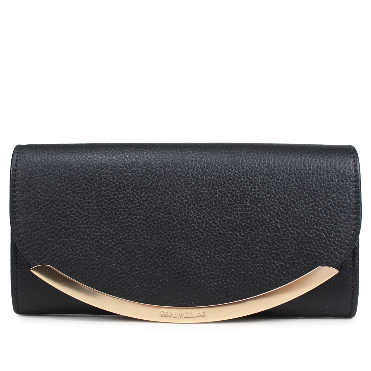 SEE BY CHLOE LIZZIE LONG WALLET WITH FLAP シーバイクロエ 財布 長財布 レディース レザー ブラック 黒 CHS17WP582349 [4/2再入荷]