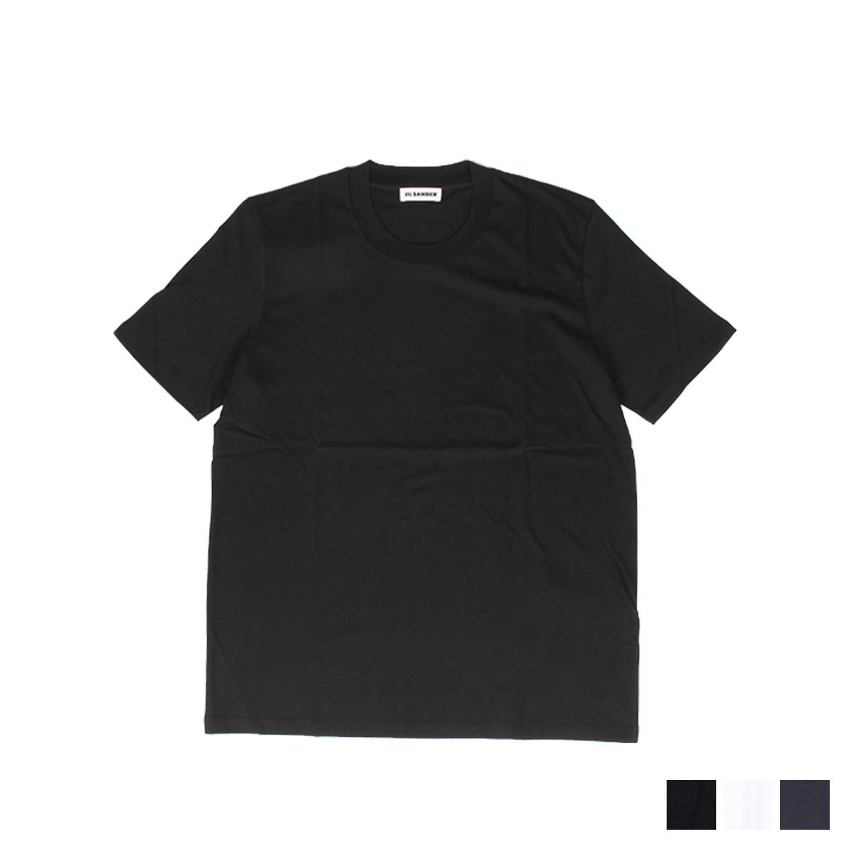 JIL SANDER CREW NECK T-SHIRT ジルサンダー Tシャツ メンズ レディース 半袖 カットソー 無地 ブラック ホワイト ダーク ブルー 黒 白 JSMP706020 MP247308 [予約商品 9/2頃入荷予定 新入荷] [198]