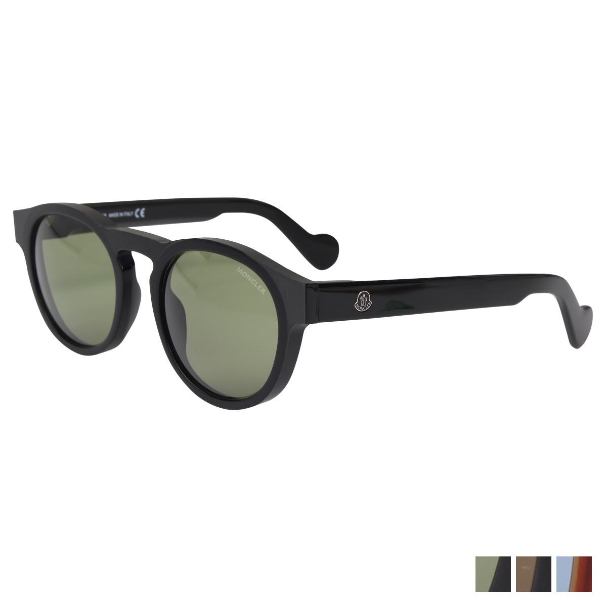 MONCLER SUNGLASSES モンクレール サングラス メンズ レディース UVカット ウェリントン ブラック ブラウン 黒 ML0099