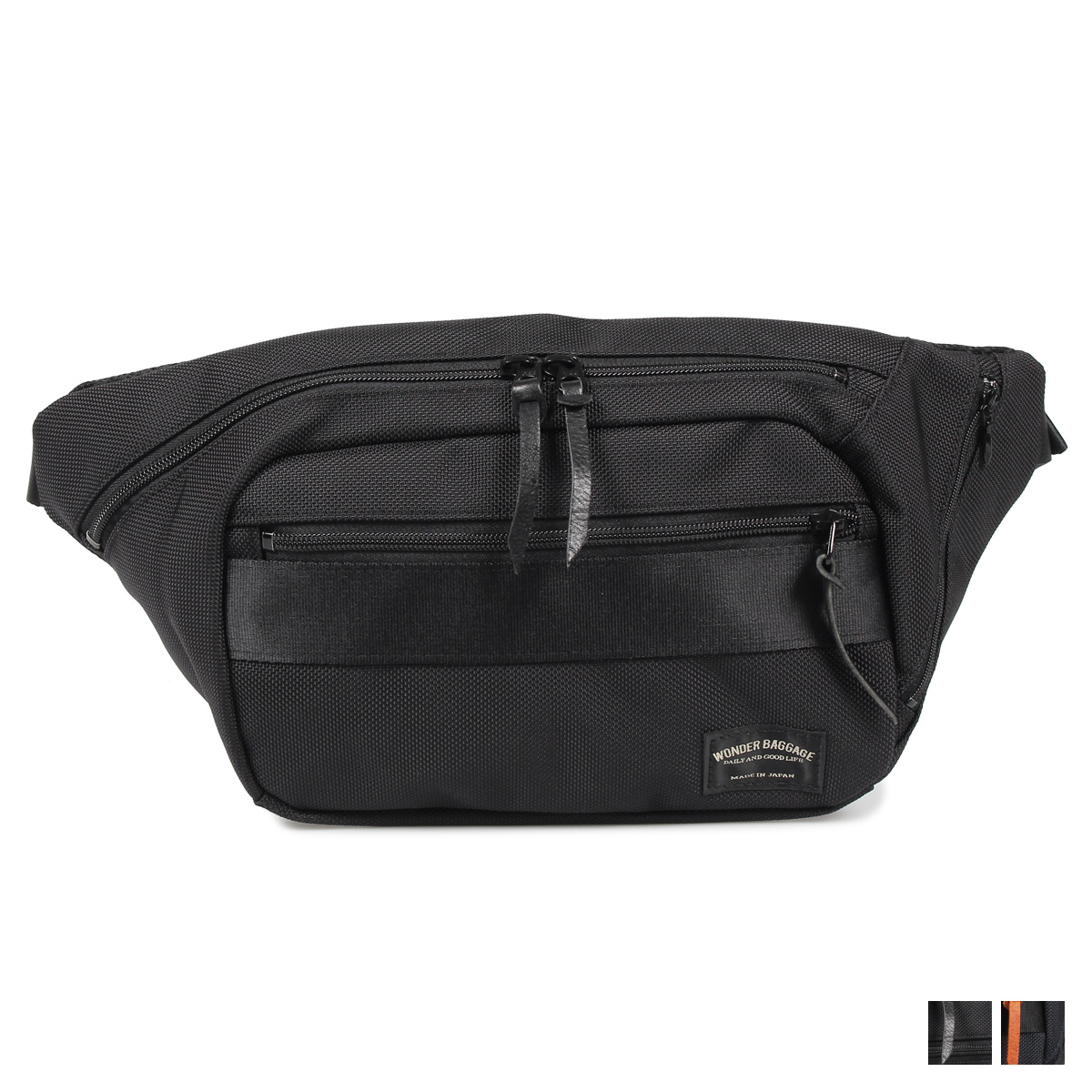 WONDER BAGGAGE GOODMANS WAIST BAG ワンダーバゲージ バッグ ボディバッグ ウエストバッグ グッドマンズ メンズ ブラック ネイビー 黒 WB-G-024