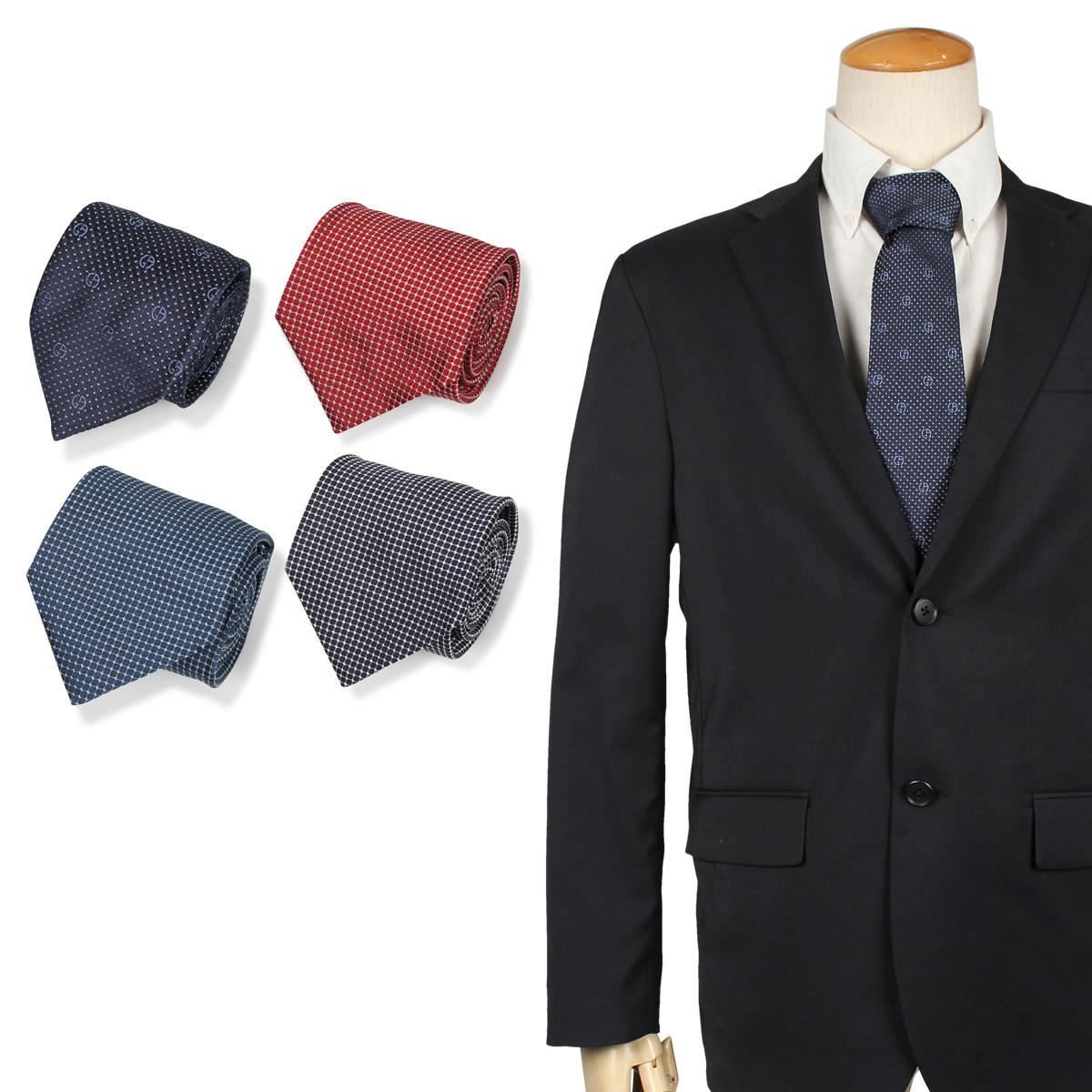 GIORGIO ARMANI ジョルジオ アルマーニ ネクタイ メンズ イタリア製 シルク ビジネス 結婚式 ブラック グレー レッド ブルー 黒