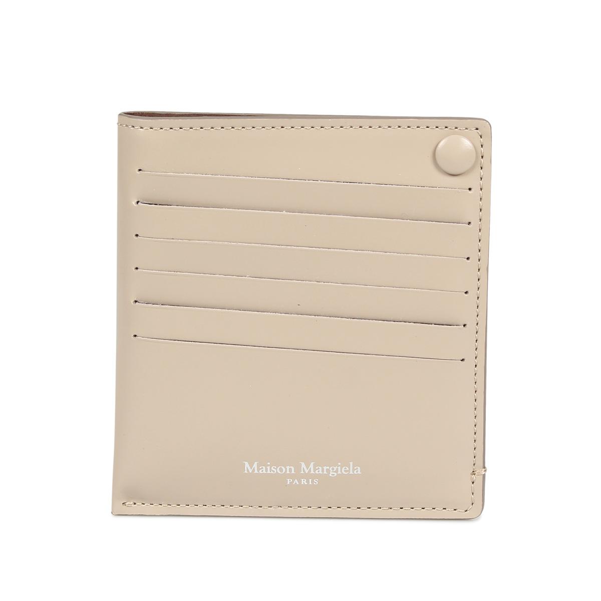【送料無料】 【あす楽対応】 メゾンマルジェラ MAISON MARGIELA カードケース パスケース MAISON MARGIELA CARD CASE メゾンマルジェラ カードケース 名刺入れ 定期入れ メンズ レディース レザー ブラック ダーク ネイビー ベージュ 黒 S55UI0201 P2714 [10/9 新入荷] [1910]