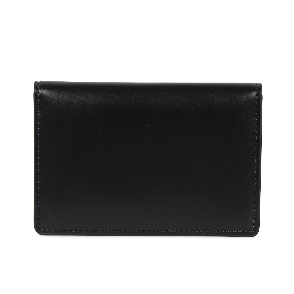 MAISON MARGIELA CARD CASE メゾンマルジェラ カードケース 名刺入れ 定期入れ メンズ レディース レザー ブラック ダーク ネイビー ベージュ ブラウン 黒 S55UI0201 P2714