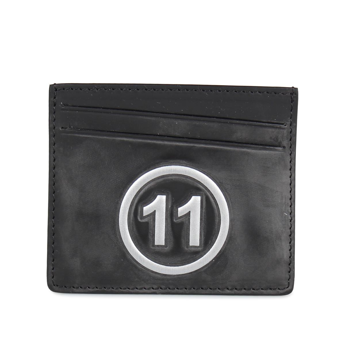 MAISON MARGIELA CARD CASE メゾンマルジェラ カードケース 名刺入れ 定期入れ メンズ レディース レザー ブラック 黒 S35UI0432 P0047