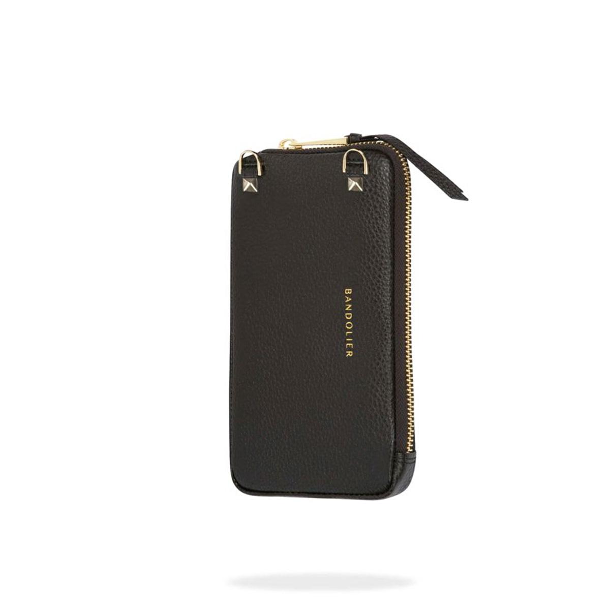 BANDOLIER EXPANDED GOLD POUCH バンドリヤー ポーチ ケース スマホ 携帯 レザー メンズ レディース ブラック 黒 21GRA