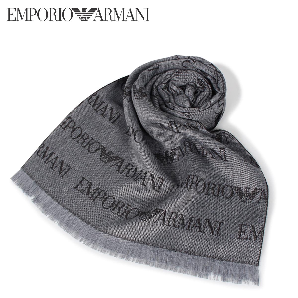 【送料無料】 【あす楽対応】 エンポリオアルマーニ EMPORIO ARMANI マフラー ストール EMPORIO ARMANI 625053 CC786 エンポリオアルマーニ マフラー ストール メンズ グレー