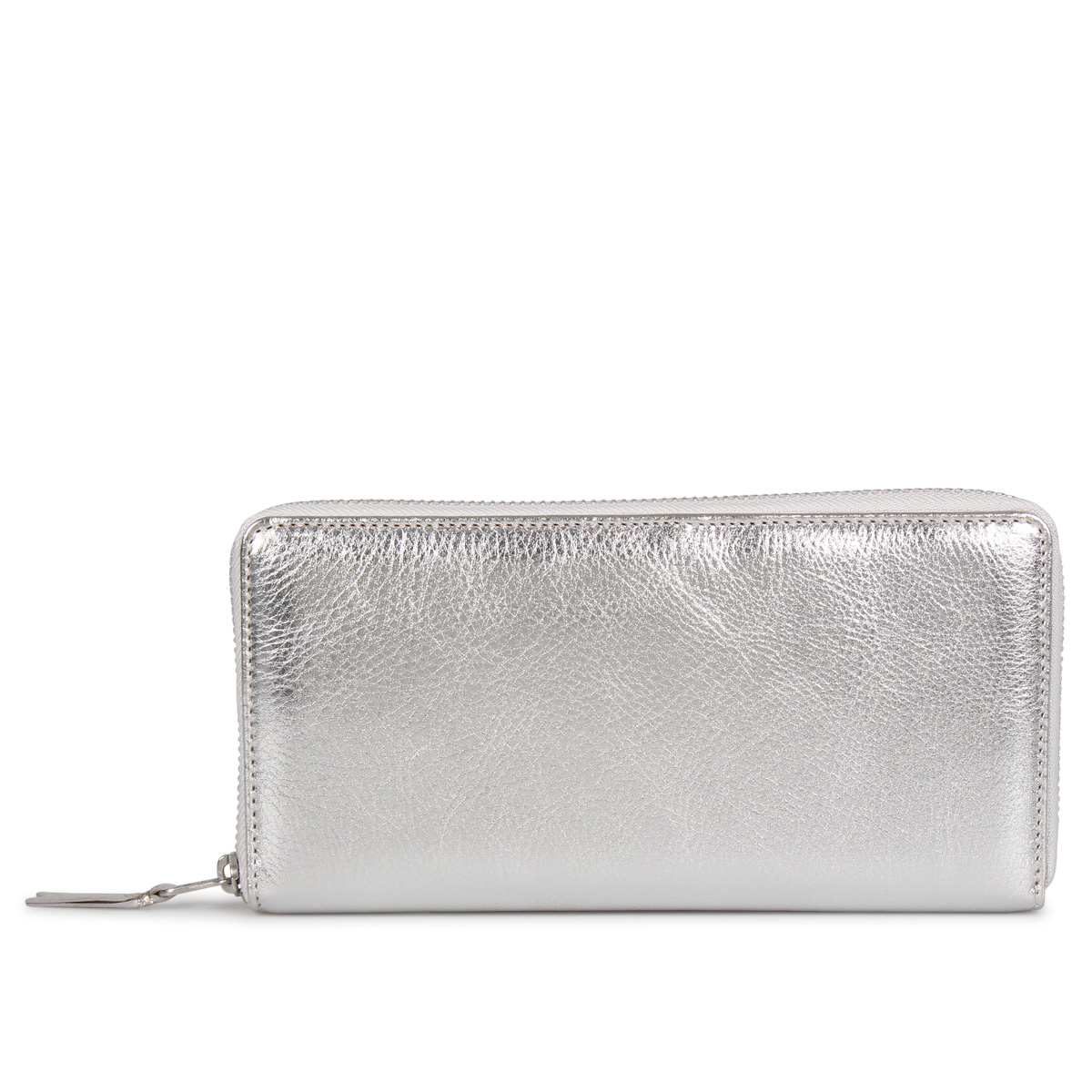COMME des GARCONS GOLD AND SILVER WALLET コムデギャルソン 財布 長財布 メンズ レディース ラウンドファスナー 本革 シルバー SA0110G