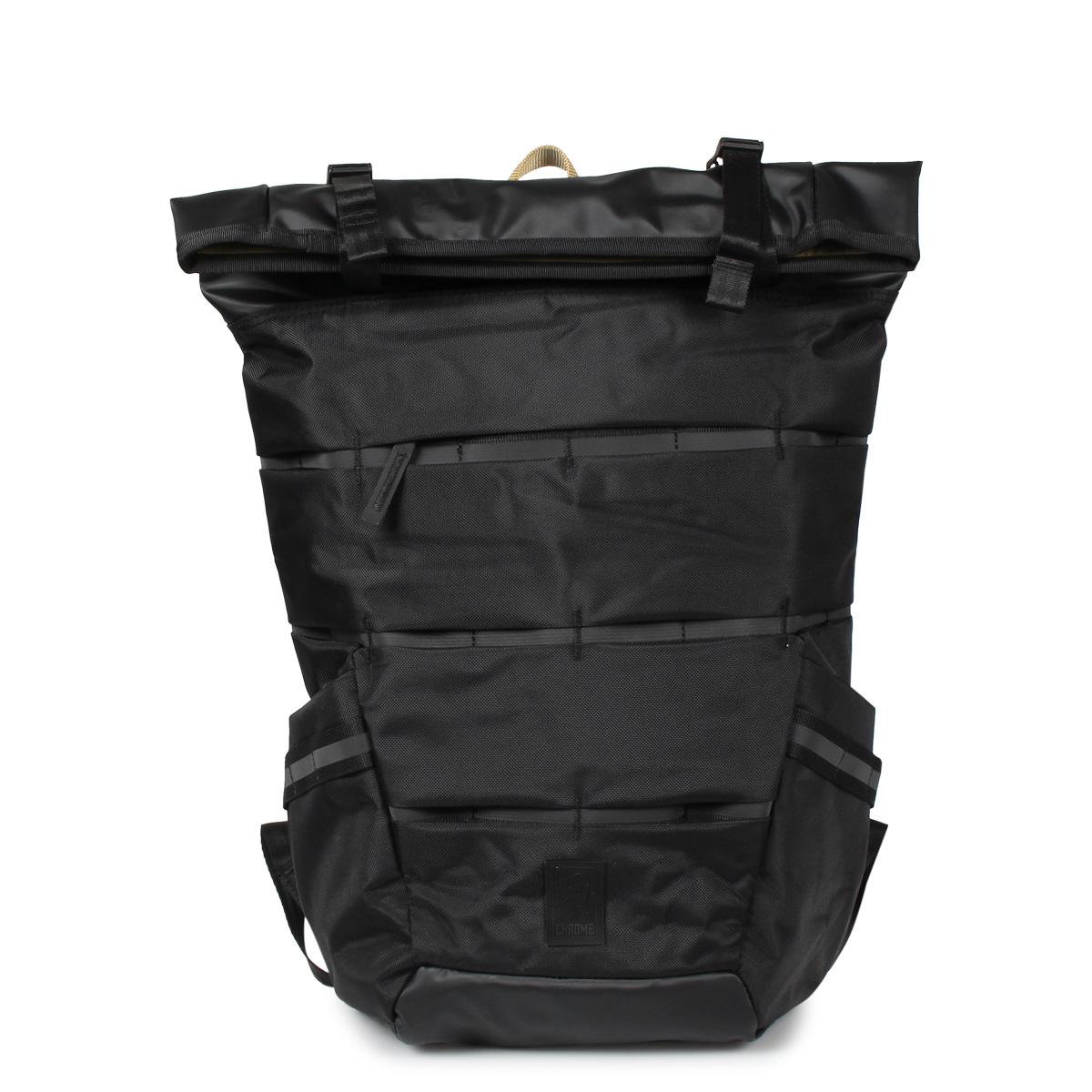 CHROME MAZER ENSIGN ROLLTOP PACK クローム リュック バッグ バックパック エンジン ロールトップ メンズ レディース ブラック 黒 BG-279