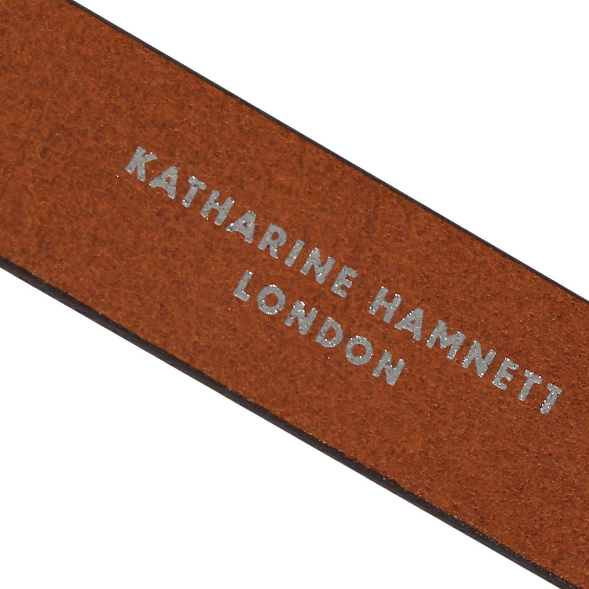 KATHARINE HAMNETT LONDON LEATHER BELT キャサリンハムネット ロンドン ベルト レザーベルト メンズ 本革 ブラック ダーク ブラウン 黒 KH 506025yb7vIgYf6