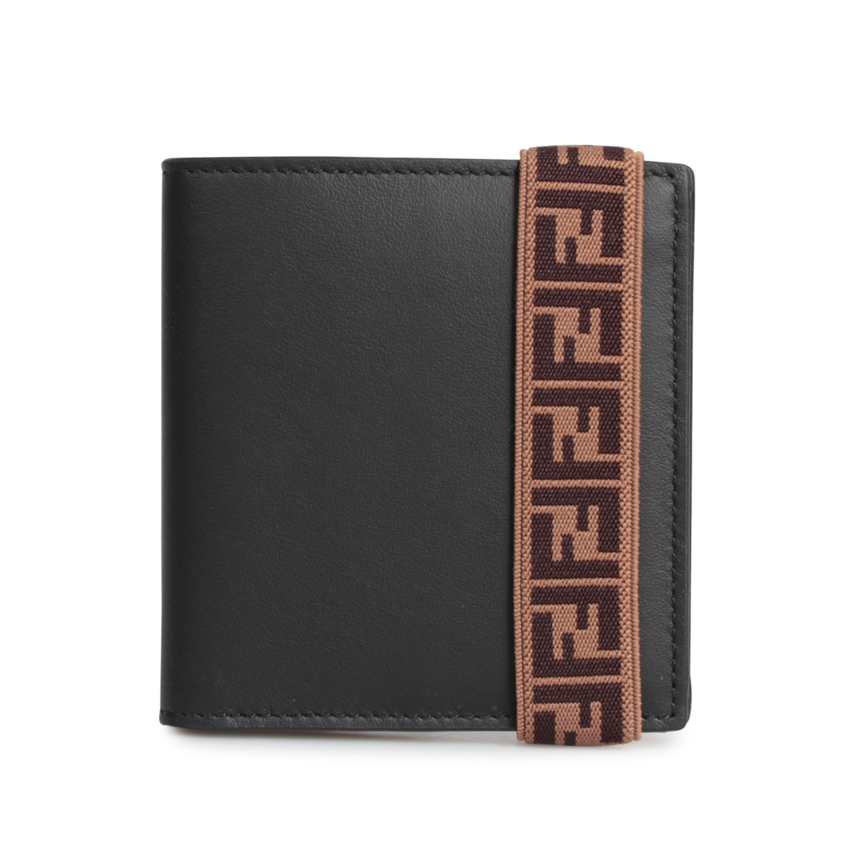FENDI BI-FOLD WALLET フェンディ 財布 二つ折り メンズ ブラック 黒 7M0277 A8VC