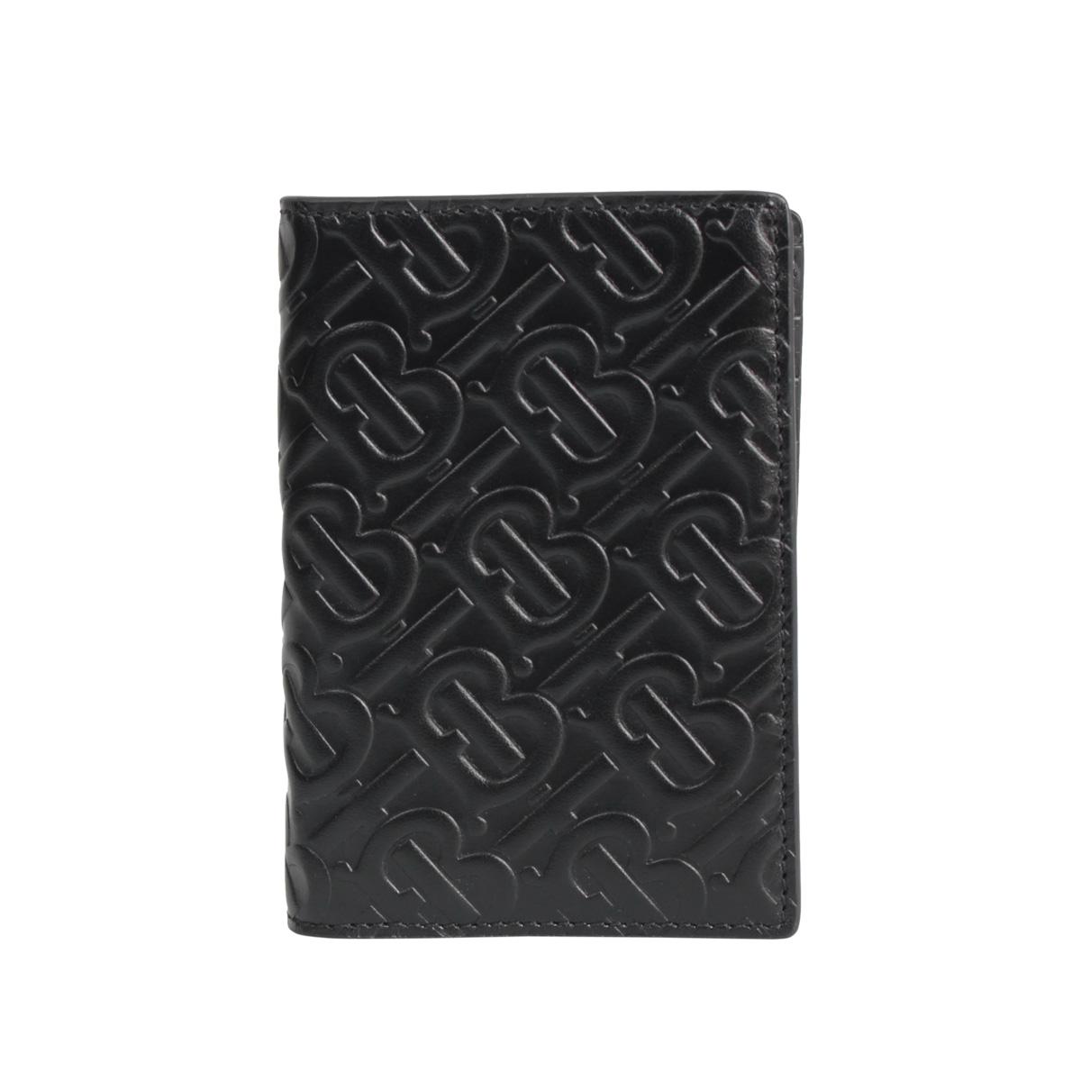 【最大2000円OFFクーポン】 BURBERRY MONOGRAMMED LEATHER PASSPORT CASE バーバリー パスポートケース パスポートホルダー メンズ ブラック 黒 8014445