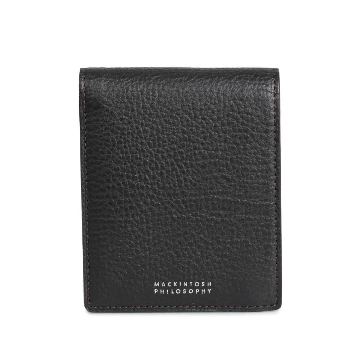 MACKINTOSH PHILOSOPHY BI-FOLD WALLET マッキントッシュ フィロソフィー 財布 二つ折り メンズ 本革 ブラック ネイビー チョコ 黒 MAP213016