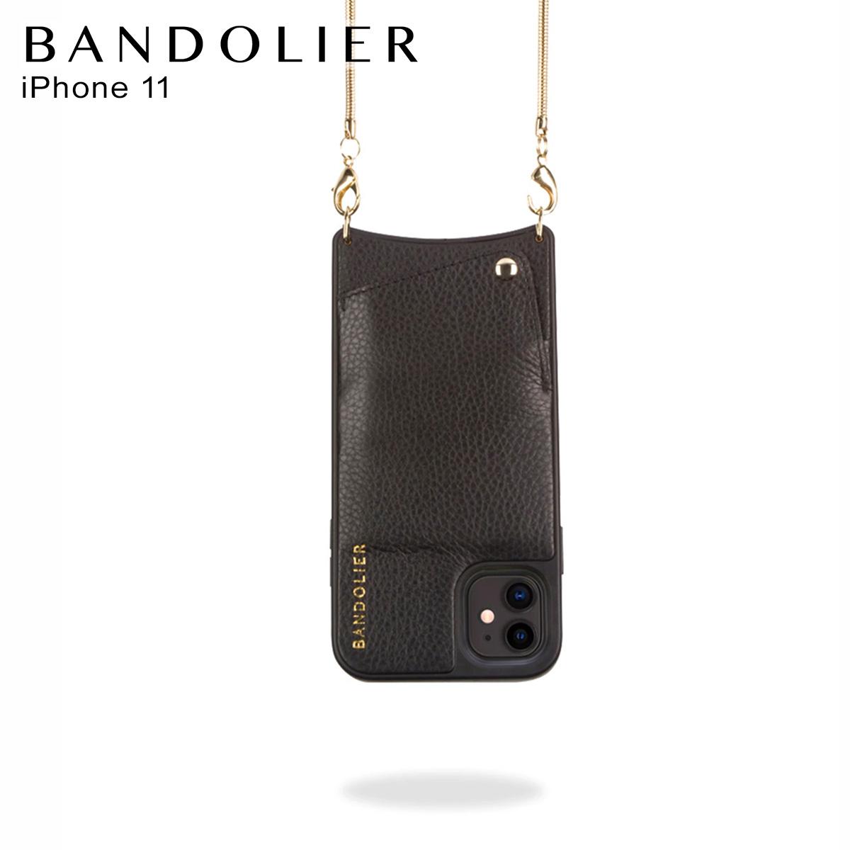 BANDOLIER BELINDA GOLD バンドリヤー ベリンダ ゴールド iPhone11 ケース スマホ 携帯 ショルダー アイフォン メンズ レディース ブラック 黒 2002 [12月上旬 新入荷]