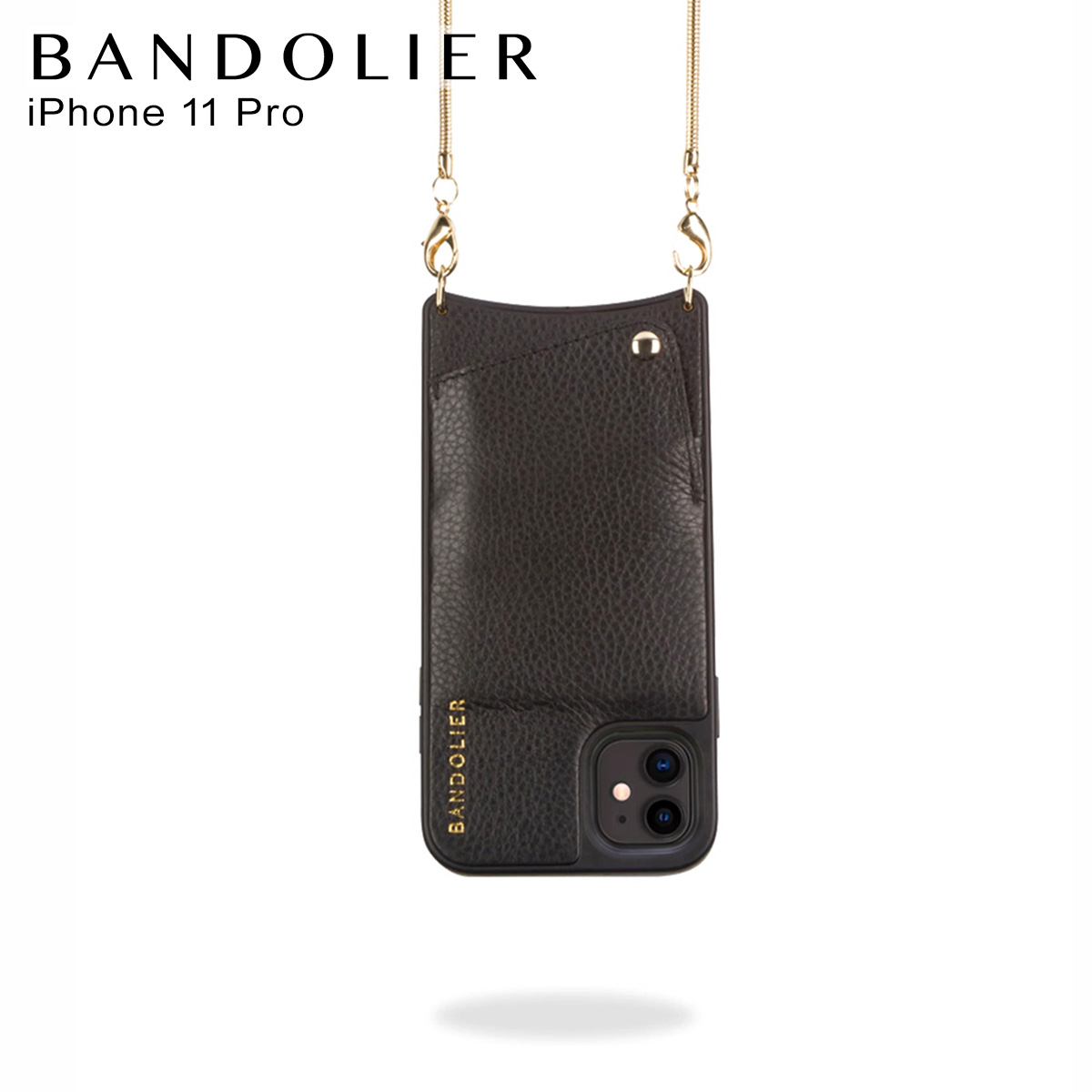BANDOLIER BELINDA GOLD バンドリヤー ベリンダ ゴールド iPhone11 Pro ケース スマホ 携帯 ショルダー アイフォン メンズ レディース ブラック 黒 2002 [12月上旬 新入荷]