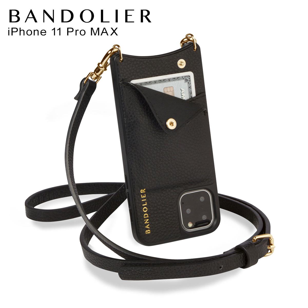 BANDOLIER EMMA GOLD バンドリヤー エマ ゴールド iPhone11 Pro MAX ケース スマホ 携帯 ショルダー アイフォン メンズ レディース ブラック 黒 2900 [12月上旬 新入荷]