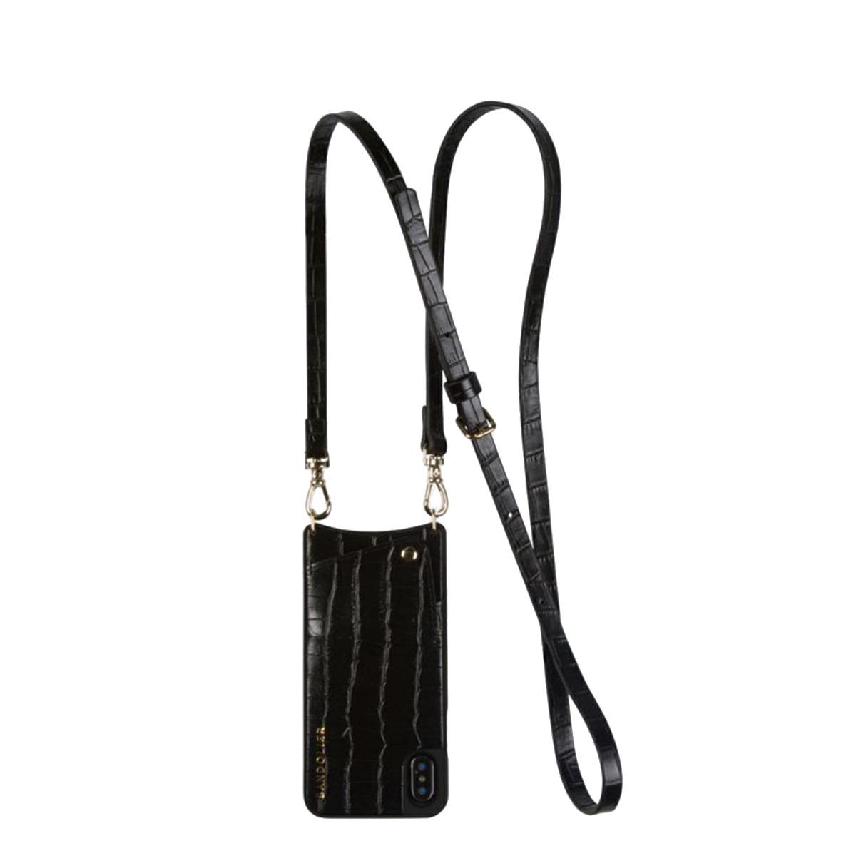 BANDOLIER EMMA CROC BLACK バンドリヤー iPhoneXS X ケース スマホ 携帯 アイフォン レディース ブラック 黒 10emm