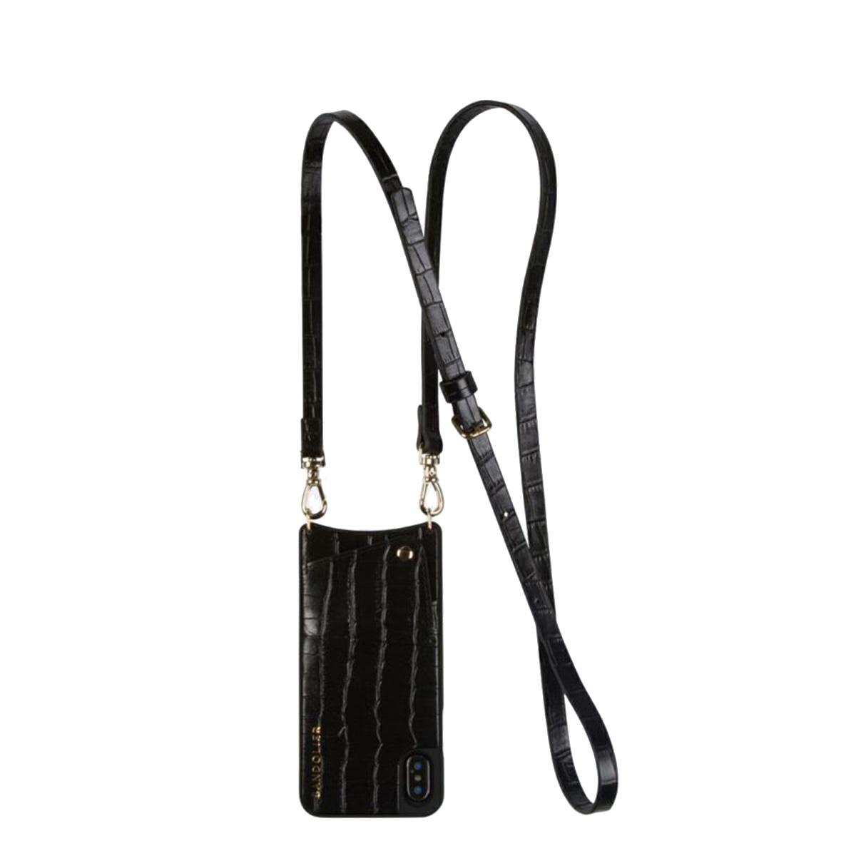 BANDOLIER EMMA CROC BLACK バンドリヤー iPhone XS MAX ケース スマホ 携帯 レディース ブラック 黒 10emm