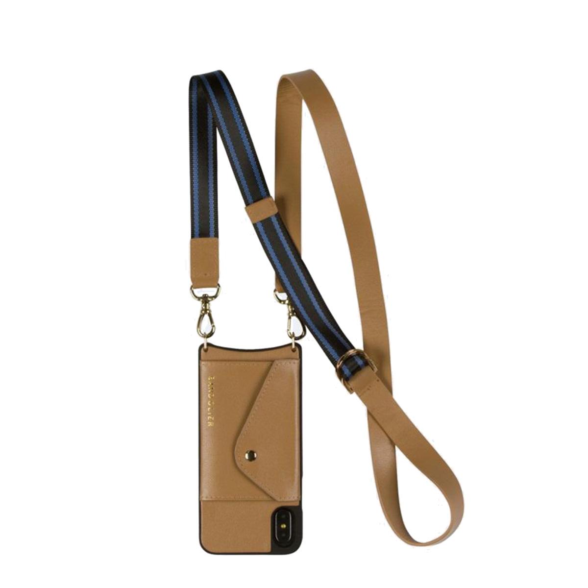 BANDOLIER iPhone SE SE2 8 7 6s 6 ケース スマホ 携帯 アイフォン レディース OLIVIA SIDE SLOT TAN BLUE キャメル 14oli