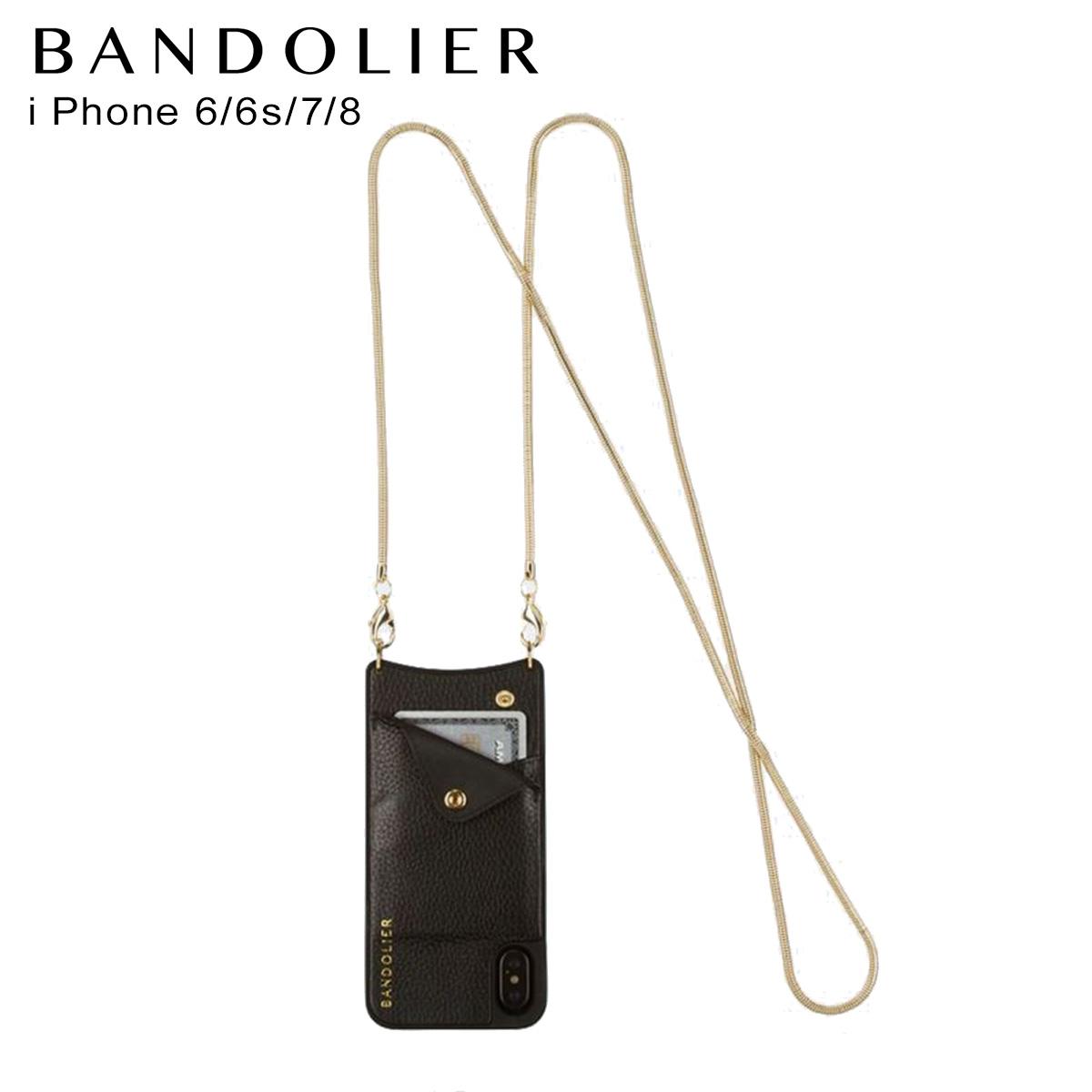 BANDOLIER iPhone SE SE2 8 7 6s 6 ケース スマホ 携帯 アイフォン レディース BELINDA GOLD ブラック 黒 2002