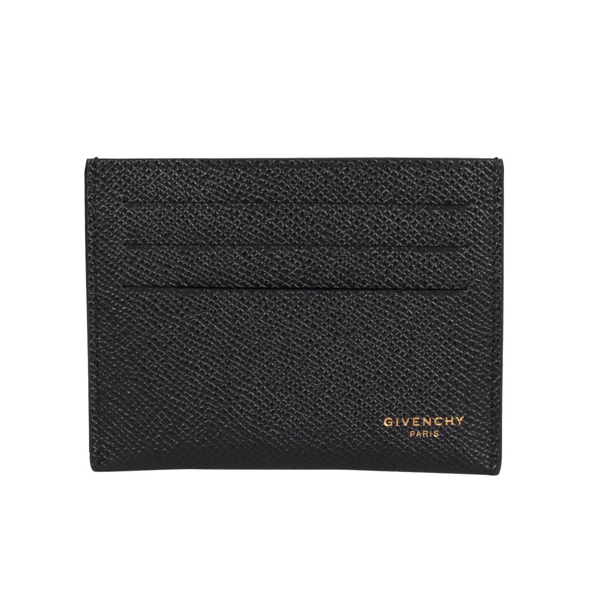 GIVENCHY LEATHER EROS CARD HOLDER ジバンシー パスケース カードケース ID 定期入れ メンズ 本革 ブラック 黒 BK6003