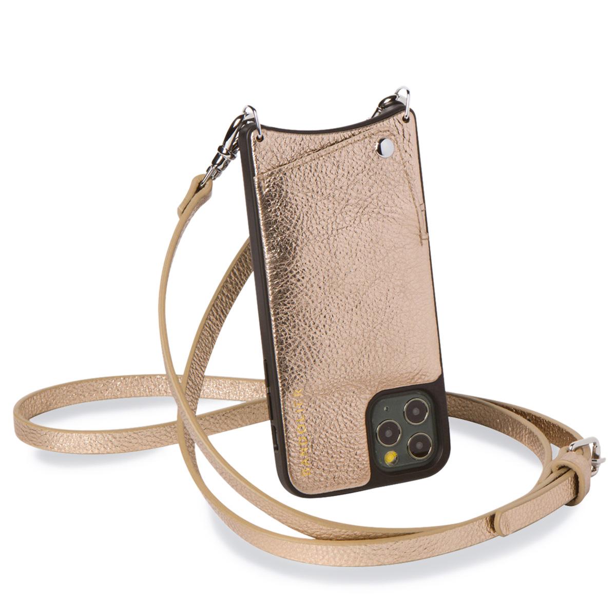 BANDOLIER EMMA CHAMPAGNE GOLD バンドリヤー iPhone11 Pro MAX ケース スマホ 携帯 ショルダー アイフォン エマ メンズ レディース レザー ゴールド 10EMM