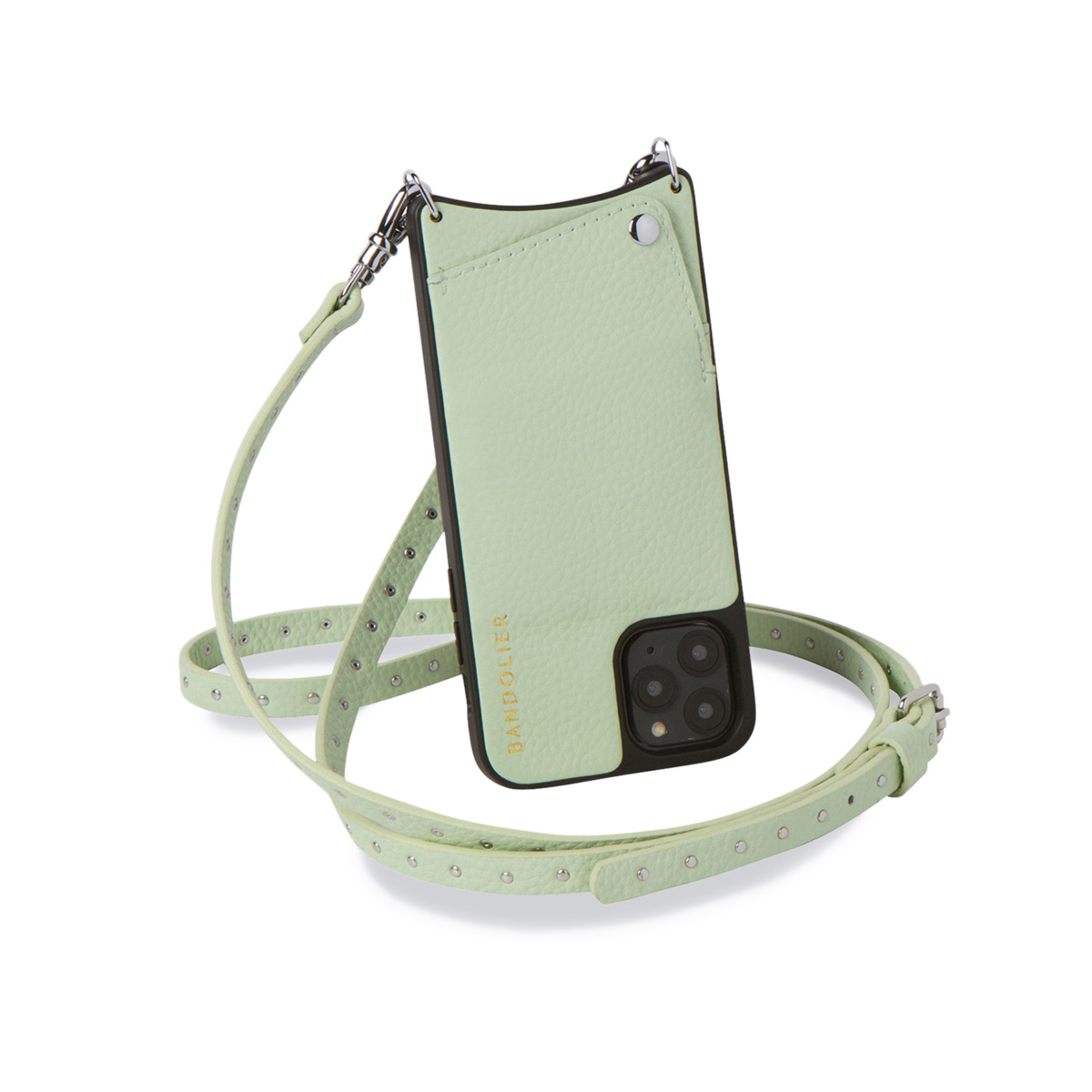 BANDOLIER NICOLE MIST GREEN バンドリヤー iPhone11 Pro MAX ケース スマホ 携帯 ショルダー アイフォン ニコル メンズ レディース レザー グリーン 10NIC