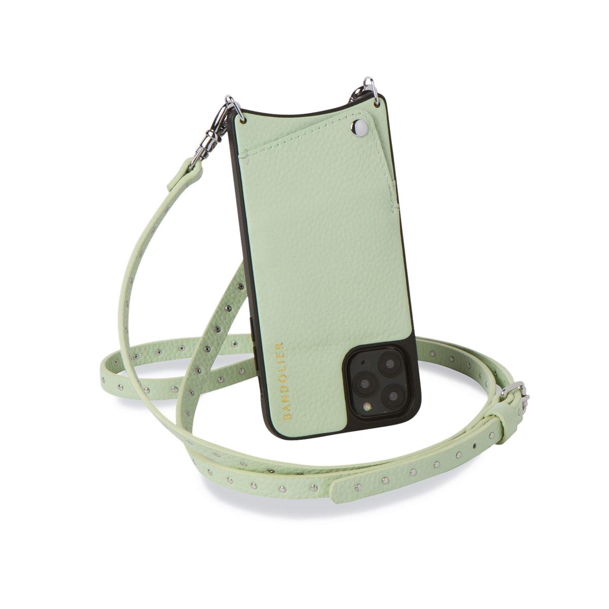 BANDOLIER NICOLE MIST GREEN バンドリヤー iPhoneXS X ケース スマホ 携帯 ショルダー アイフォン ニコル メンズ レディース レザー グリーン 10NIC