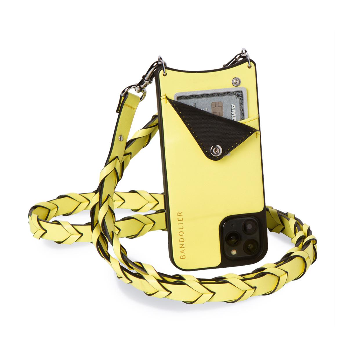 BANDOLIER ZOEY YELLOW バンドリヤー iPhone XR ケース スマホ 携帯 ショルダー アイフォン メンズ レディース レザー イエロー 10ZOE