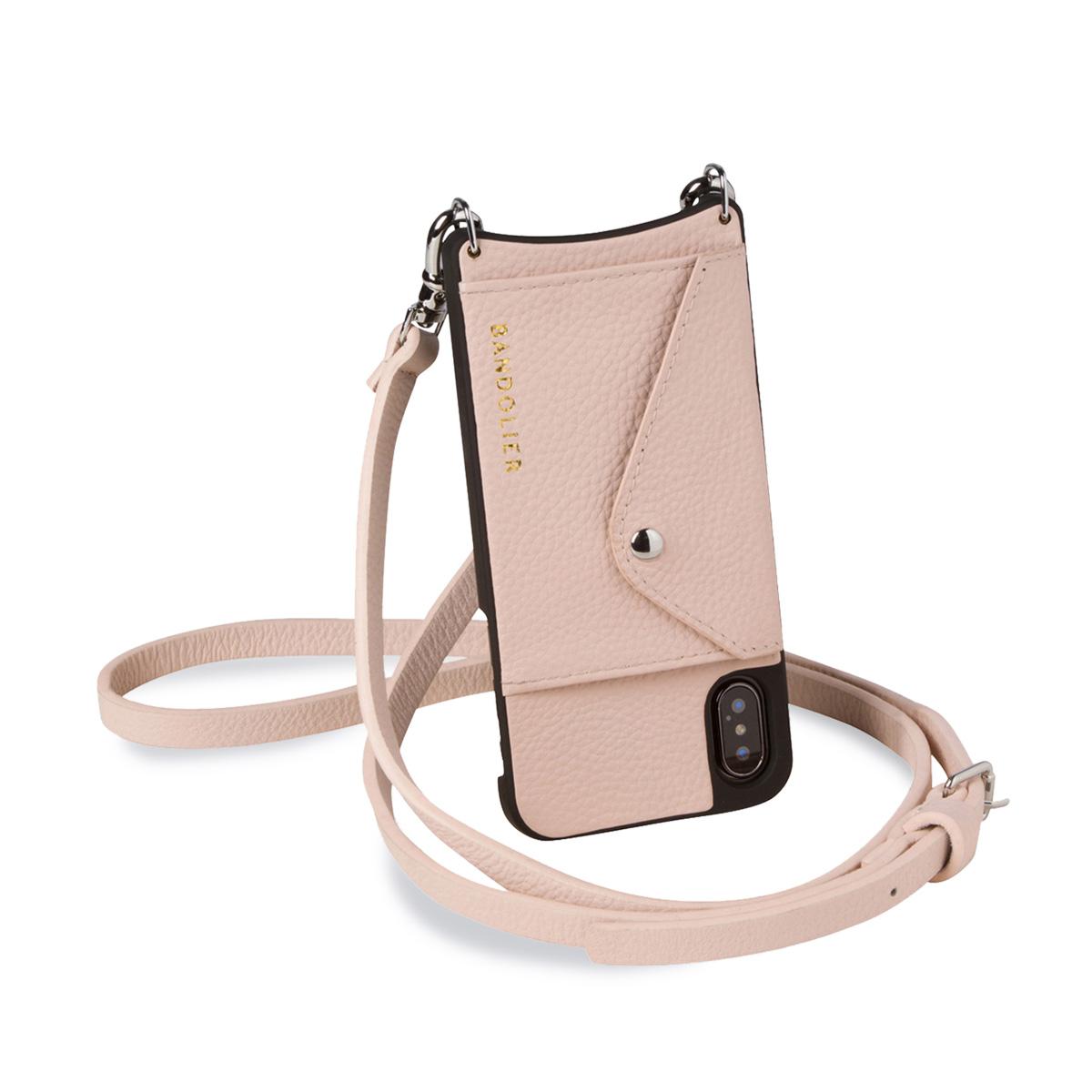 BANDOLIER DONNA SIDE SLOT PINK バンドリヤー iPhoneXS X ケース スマホ 携帯 ショルダー アイフォン メンズ レディース レザー ピンク 14DON