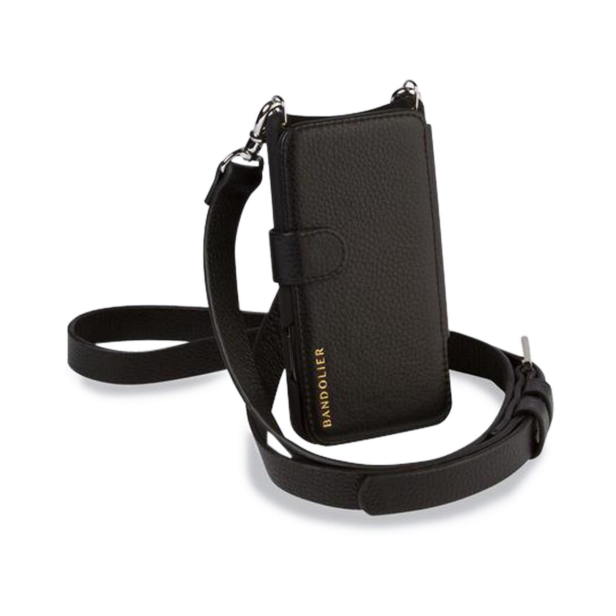 BANDOLIER HAILEY FOLIO SILVER バンドリヤー iPhone11 Pro ケース スマホ 携帯 ヘイリー フォーリオ シルバー メンズ レディース ブラック 黒 13HAI