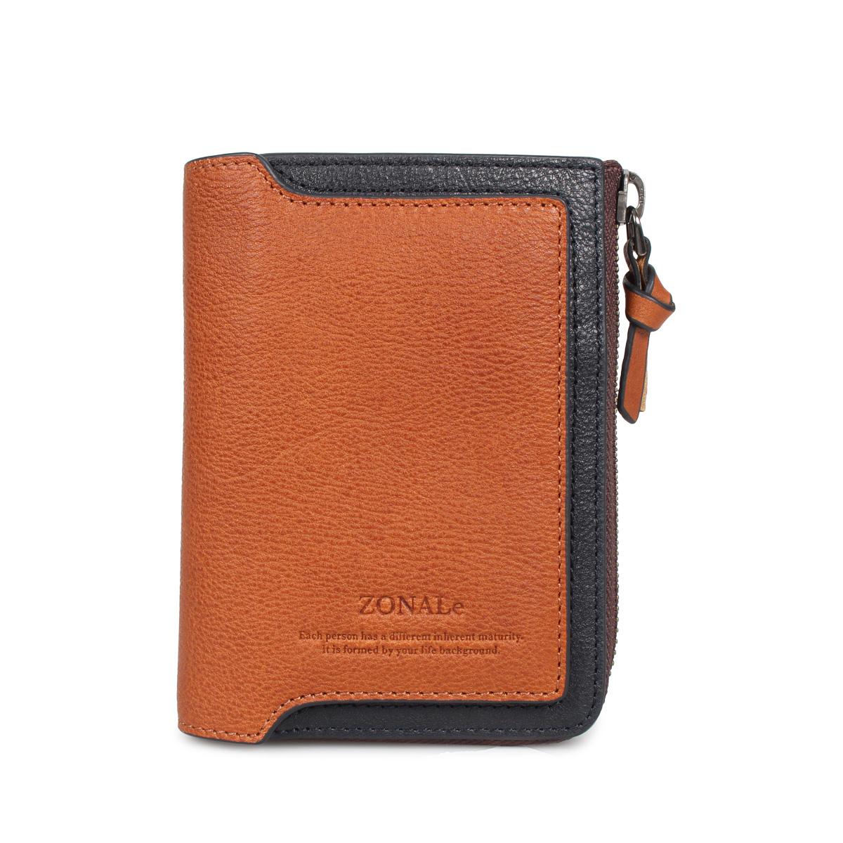 ZONALE ORLO ゾナール 財布 二つ折り メンズ 本革 ネイビー ブラウン 31222