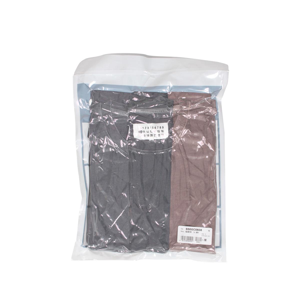 MAISON MARGIELA T SHIRT メゾンマルジェラ Tシャツ 半袖 メンズ 3枚組 グレー S50GC0608-961 [3/4 新入荷]