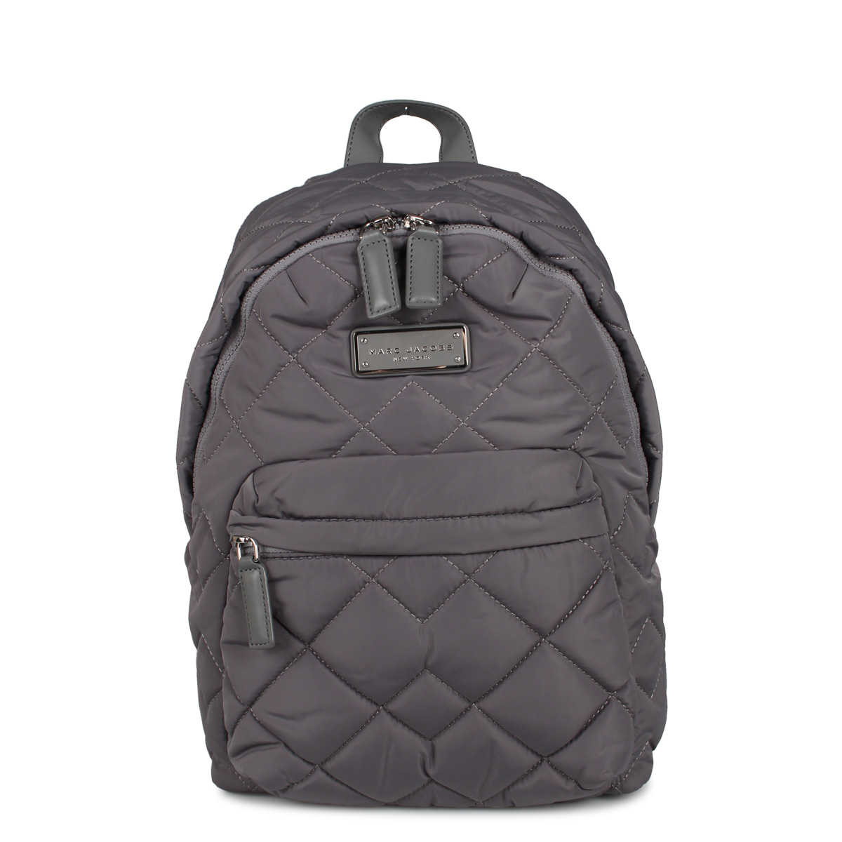 MARC JACOBS QUILTED BACKPACK マークジェイコブス リュック バッグ バックパック レディース グレー M0011321-097