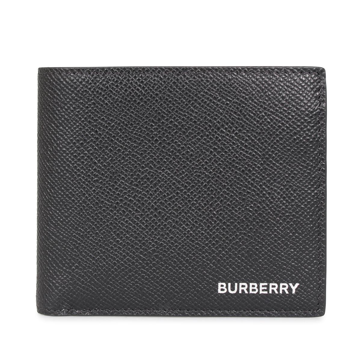 人気定番 BURBERRY CC BILL COIN バーバリー 財布 二つ折り メンズ ブラック 黒 8014656, コクラミナミク 7299f359