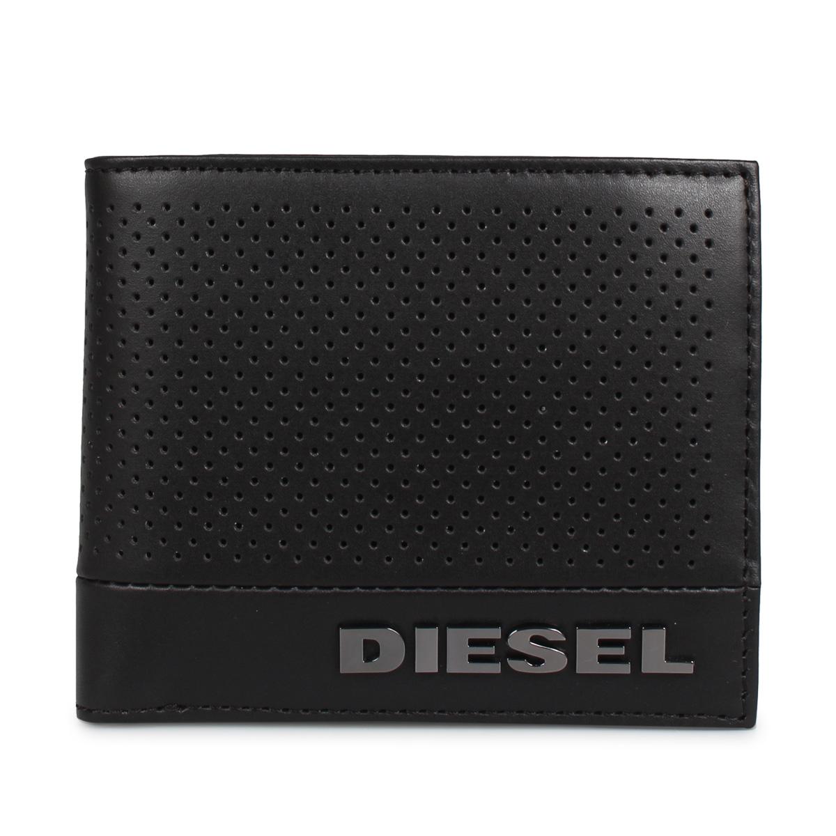 DIESEL HIRESH S ディーゼル 財布 二つ折り メンズ ブラック 黒 X06760-PR879 [5/21 新入荷]