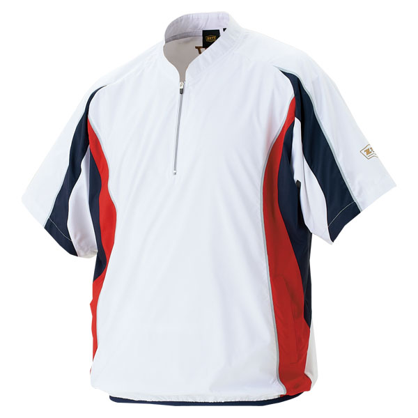 ZETT Zed windbreaker jacket short sleeve baseball softball half zip jumper [excluded]