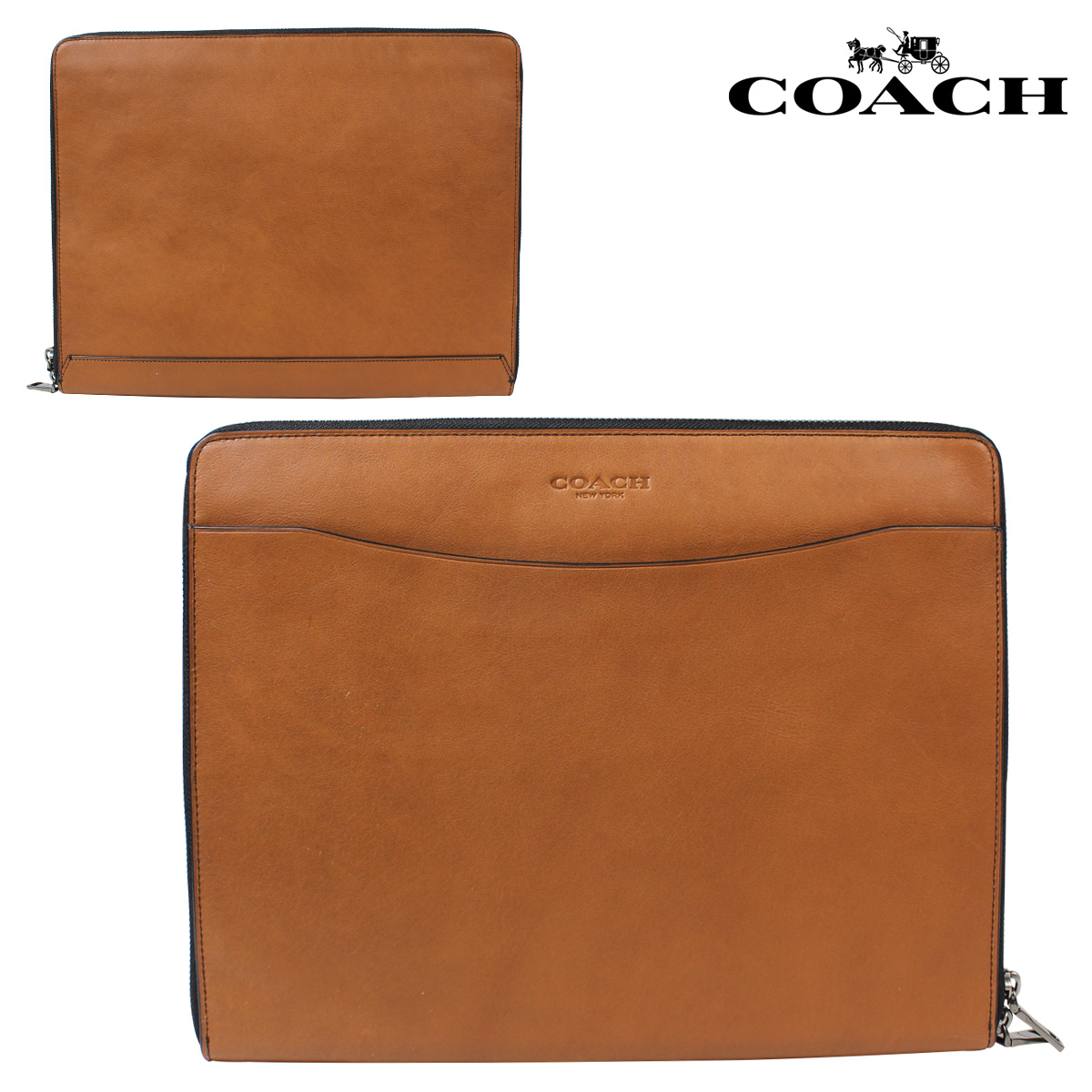 Sold out coach coach men bag clutch bag tablet pc case f63398 saddle