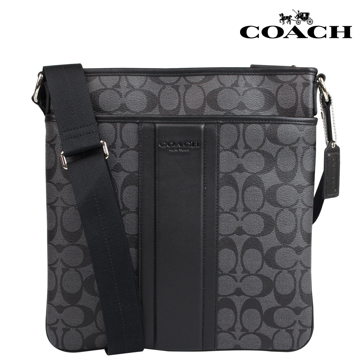6d70d5df65d6 ALLSPORTS  Coach COACH men s Messenger bag shoulder bag F71947 Charcoal  Black Heritage stripe