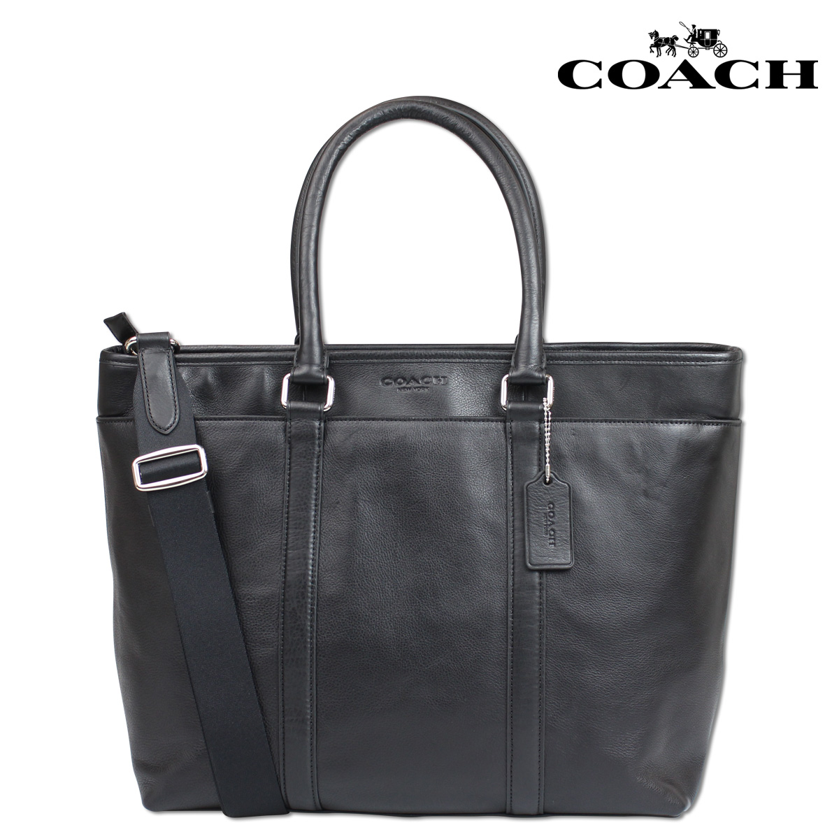 b03b99fb4802 ALLSPORTS  Coach COACH bag tote bag 2-WAY men s F71843 black leather ...