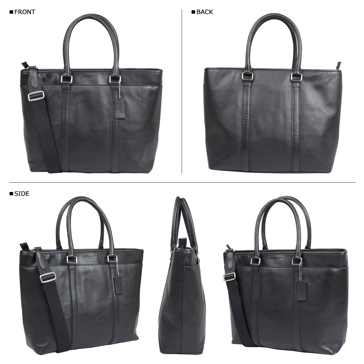 29487b6649 ALLSPORTS  Coach COACH bag tote bag 2-WAY men s F71843 black leather ...