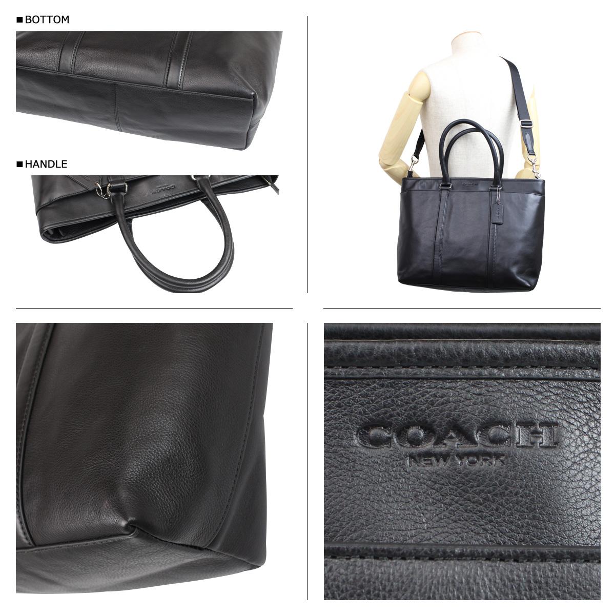 29487b6649 ALLSPORTS  Coach COACH bag tote bag 2-WAY men s F71843 black leather ...