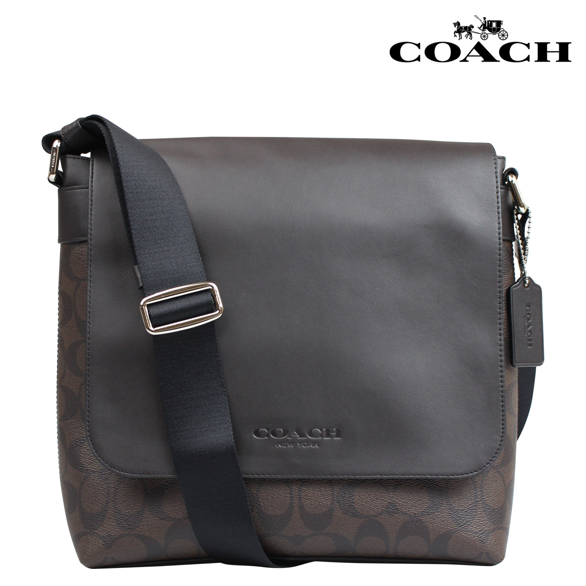 ... Coach COACH bag Messenger bag shoulder bags mens F72109 mahogany x  Brown signature Sullivan small Messenger ... 74479d1bc3cac