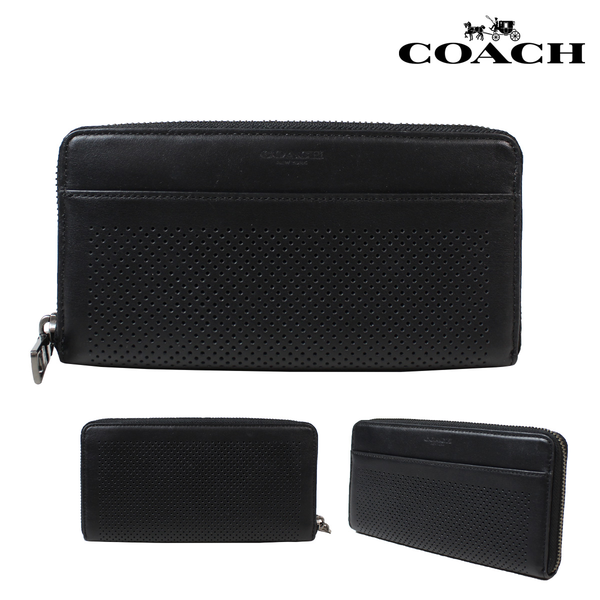 41c672c29b Coach COACH mens wallet wallet F75222 black