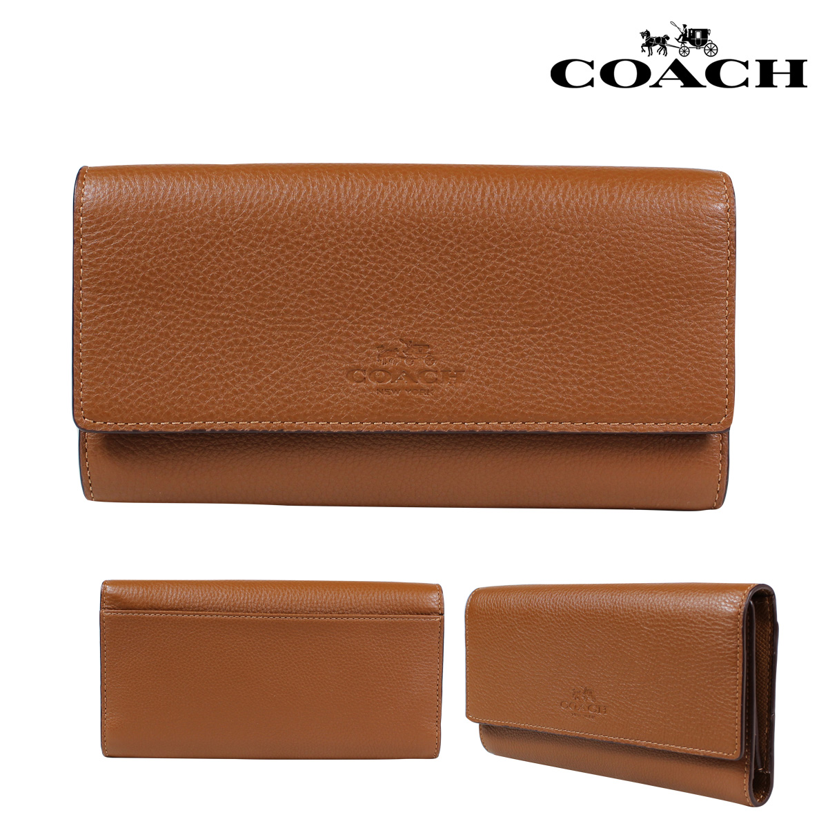 outlet store 57004 d56c4 COACH coach wallets wallet card case F53708 saddle ladies